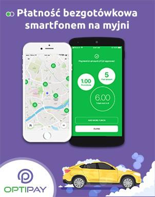 OptiPay - sytem płatności smartfonem na myjniach